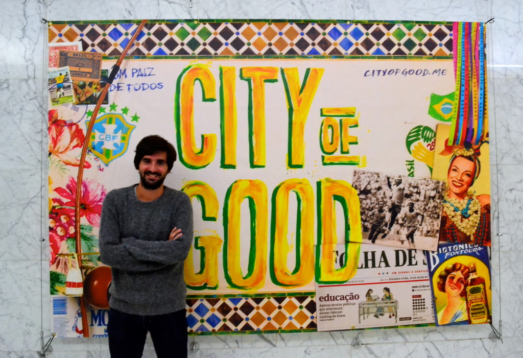 Nicolas and his City of Good mural